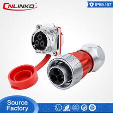 M24 Metal Pins Round Industrial Plug & Socket Power Signal Connector Waterproof