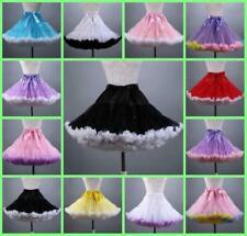 "Chic Retro Women Short Petticoat Underskirt Skirt Crinoline Slips Tutu Tulle 16"""