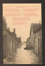 "SENS (89) INONDATION 1910 ,Commerce ""D. SOYER Charbons"""