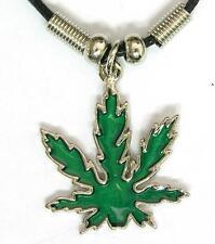 New Weed Jewelry Pot Green Leaf Pendant Choker Necklace Marijuana Cannabis