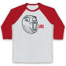 Lol cara Meme Rage Comic Funny Broma Comedia risa Unisex 3/4 Béisbol Tee