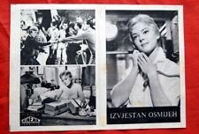 A CERTAIN SMILENEGULESCO BRAZZI 1958 EXYU MOVIE PROGRAM