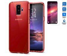 Funda TPU LISA Roja Samsung Galaxy S9 Plus (6.2) + PROTECTOR VIDRIO TEMPLADO