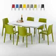 Tavoli Sedie Plastica Per Esterno.Set Tavolo Con Sedie Da Esterno Bianchi In Plastica Ebay