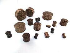 PAR (2 piezas) Tallado Orgánico Palma Madera Oreja Carne Plugs Sin Metal