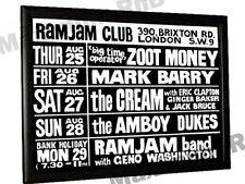 Cream Eric Clapton Concert Poster Ram Jam Club Brixton London 1966