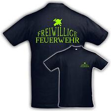 T-Shirt Shirt FREIWILLIGE FEUERWEHR.LOGO4, Neondruck,Druck,Baumwolle