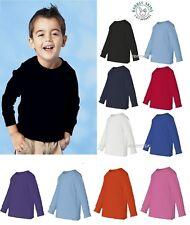 Rabbit Skins Toddler Long Sleeve T Shirt  Boys Girls Tee 3311 Sizes 2T 3T 4T 5/6
