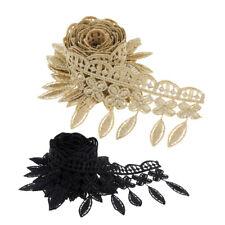 1 Yd Flower Tassel Fringe Lace Edge Trim Ribbon DIY Wedding Dress Embellishments