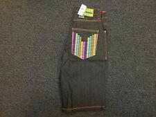 COOGI Men's BLACK Denim Jean Shorts NEW WITH TAGS Equalizer Design $108 RETAIL!
