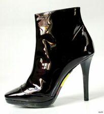 new $875 EMILIO PUCCI deep purple patent ankle BOOTS shoes - fabulous