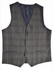 """Grey Check Tweed Slim Fit Waistcoat Style WW133/1 Sizes 36"""" - 46"""" Lloyd Attree"""