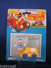 Arco Mattel Disney Donald Duck School Bus Die Cast Collectible