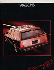 1984 Chevrolet Chevy 20-page Caprice Celebrity Cavalier Wagon Sales Brochure