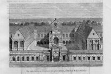 Stampa antica PARIGI Conservatorio Arti e Mestieri 1854 Ancien Gravure Old Print