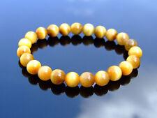 Gold Tiger Eye Natural Gemstone Bracelet 6-9'' Elasticated Healing Stone Reiki