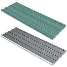 vidaXL Panel para Tejado Acero Galvanizado Verde/Gris 12 Unidades Grosor 0,25mm