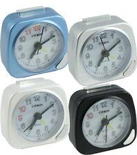 Reloj despertador para viaje Silencioso Barrer las manos luminosas repetición de alarma/luz 12 meses de garantía