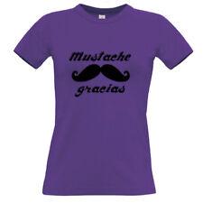 Tee shirt violet femme Moustache