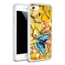 Be Unique Blue Gold Butterflies Slim Hybrid Case Fit iPhone 8, 8 Plus, X
