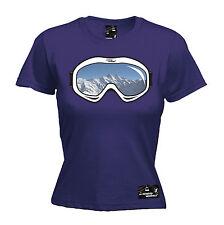 Camiseta para mujer Gafas de Esquí Snowboard Montaña snskiing esquís Divertido Regalo De Cumpleaños