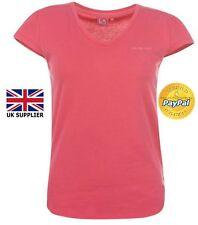 Ladies Shirt V Neck Top Plain T Shirt LA Gear Sport Casual Summer