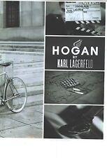 PUBLICITE ADVERTISING    2006  HOGAN chaussures dessinées par Karl LAGERFELD
