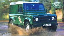 LAND ROVER DEFENDER SPEC SHEET/Brochure:1997,1996,1995,