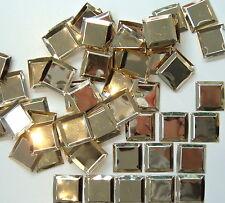 50 x 22 mm Vintage Quadrato Paillettes-Oro.
