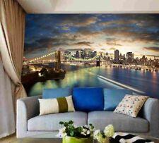 3D Bridge City Light 1D WallPaper Murals Wall Print Decal Wall Deco AJ WALLPAPER