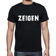 zeigen, Herren Tshirt Schwarz, Hommes Tshirt Noir, Geschenk, Cadeau