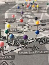 20 x 3mm Round Headed Map Push Pins ~ Cork/Notice Board Tacks 10 Rainbow Colours