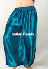 Teal - Women Girl Satin Harem Yoga Pant Belly Dance Costume Trousers Halloween