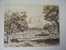 GRAVURE  M. de LAMBERT 1943  VITROLLES BOUCHES DU RHONE
