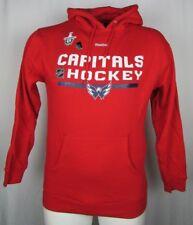 Washington Capitals Playoff Reebok Men Pullover Hooded Sweatshirt NHL Red M L XL