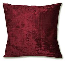 Mv25a Dark Red Diamond Crushed Velvet Cushion Cover/Pillow Case Custom Size