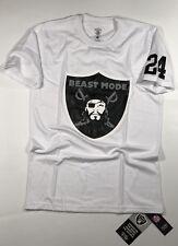 New Oakland Raiders Marshawn Lynch Beast Mode 24 Jersey Tee T Shirt Logo Men