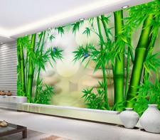 3D Bambou Vert 78 Photo Papier Peint en Autocollant Murale Plafond Chambre Art