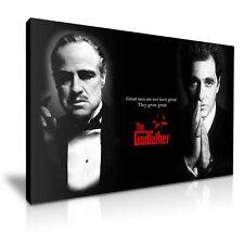 """il PADRINO"" AL PACINO & Marlon Brando film movie CANVAS PRINT"