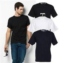 Hunky Superior Plain WHITE BLACK BLUE Cotton Tee T-Shirt Tshirt S to 6XL