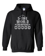 5 Time World Champions San Antonio Basketball Novelty Gift Sweatshirt Hoodies