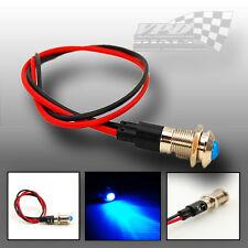 Bombilla LED azul luz indicadora de advertencia de Panel rociada 12v Lámpara Impermeable De Cromo