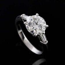 Platinum 3 Stone Engagement Ring Mounting Setting