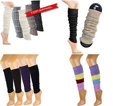 Trend Stulpen Strumpf Muster Kurz Lang Bein Legwarmer Beinstulpen