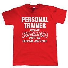 PERSONAL Trainer supereroi, da Uomo Divertente T-Shirt-Regalo Per Dad Lui Natale