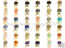 Natural 8mm Gemstone Buddhist 108 Beads Prayer Mala Stretchy Bracelet Necklace