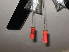 Shotgun Shell Pull Chain Fan / Light set of 2