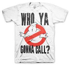 Ghostbusters Who Ya Gonna Call ? Geisterjäger 80s Männer Men T-Shirt Weiss White