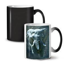 Enorme Elefante caminar nuevo cambio de color té café taza 11 OZ (approx. 311.84 g) | wellcoda