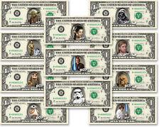 STAR WARS Characters on Real Dollar Bill Cash Money Collectible Memorabilia Bank
